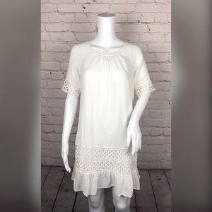 🎂Vila White Boho Dress Rays Tunic Small